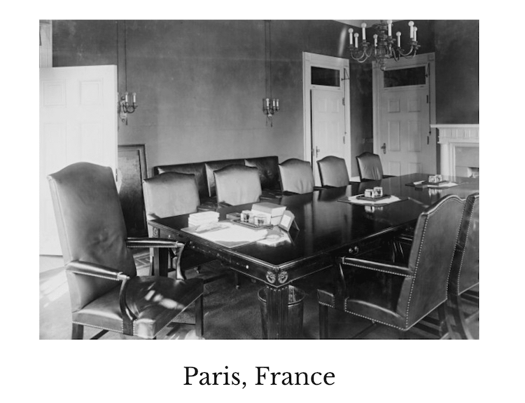 The meeting room in Paris, France