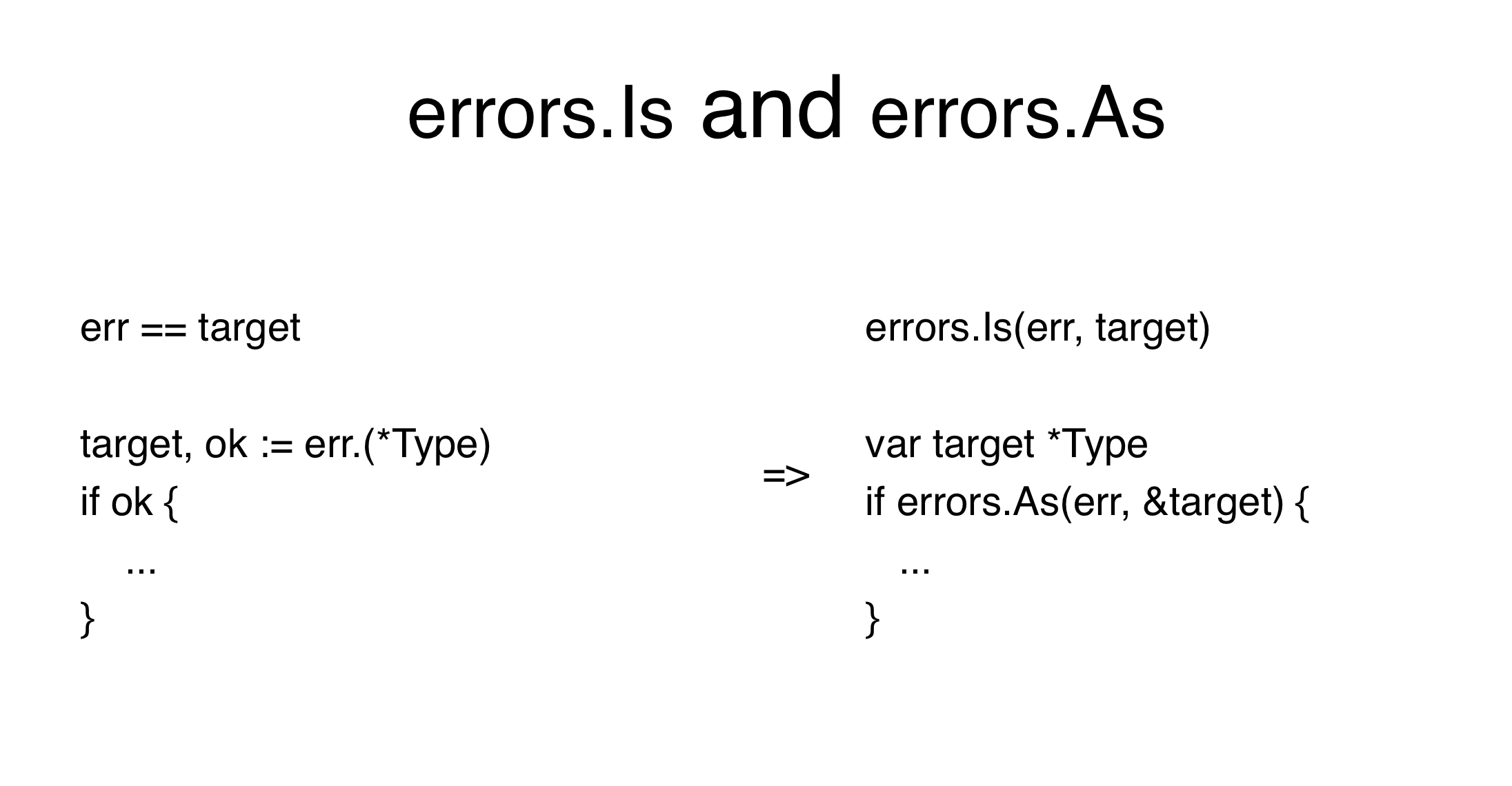 Errors Is Errors As