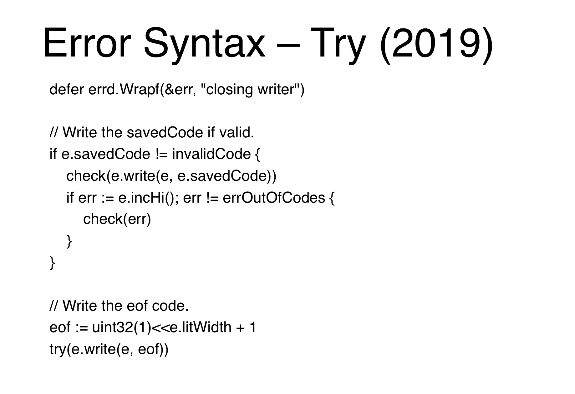 Try Syntax